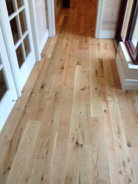 White oak flooring rustic unfinished