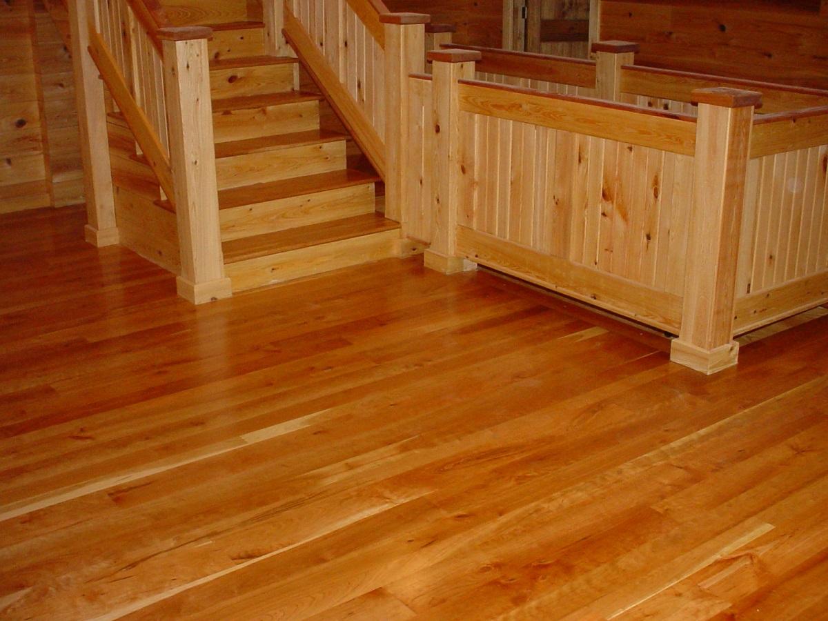Cherry hardwood flooring white oak hardwood flooring for Hardwood floors throughout