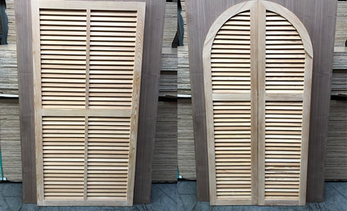 louvered cypress shutters