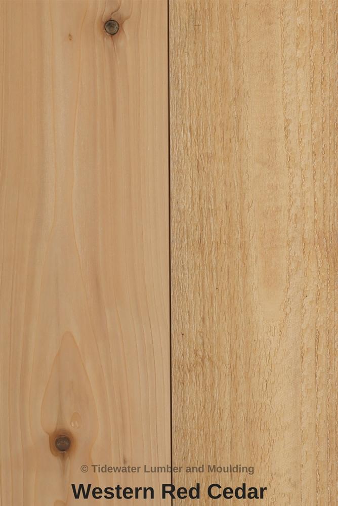 Cedar lumber cedar siding cedar planks tidewater for Cedar flooring