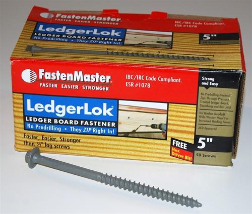 Fastenmaster Ledgerlok Screws Tidewater Lumber Amp Mouldings