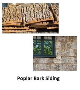 Poplar Bark Siding